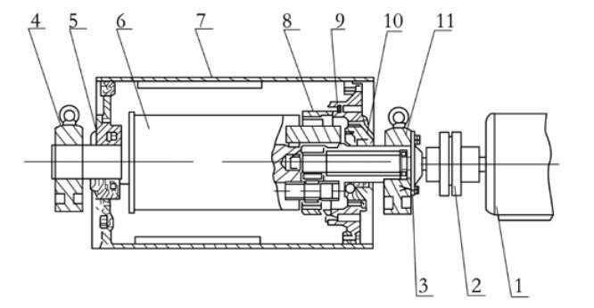 Cross-sectional-view-of-drive pulley conveyor