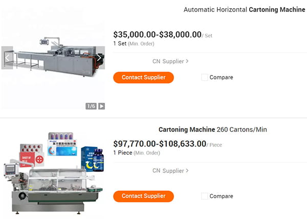 cartoner-machine-price