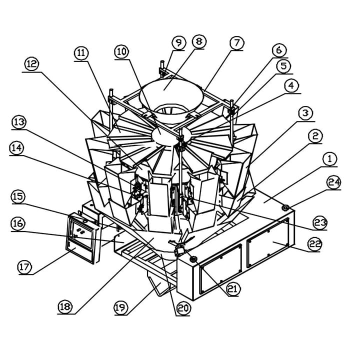 multihead-weigher-parts-diagram