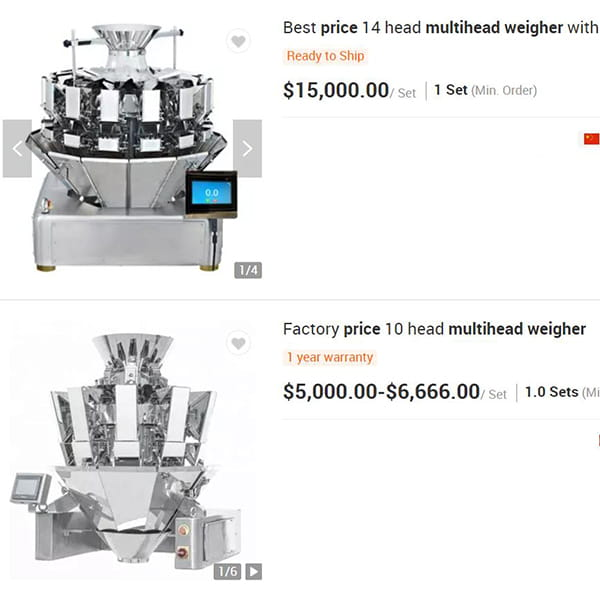 multihead-weigher-price